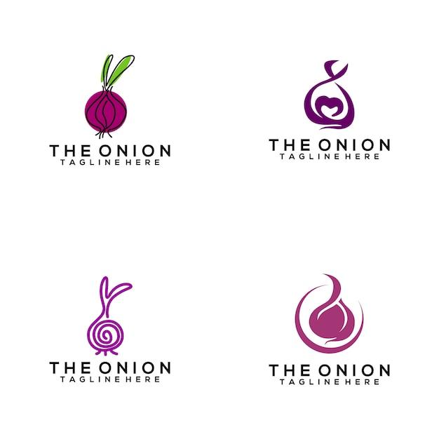 Onion logo Premium Vector