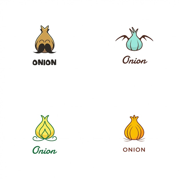 Onion logo Premium Vector