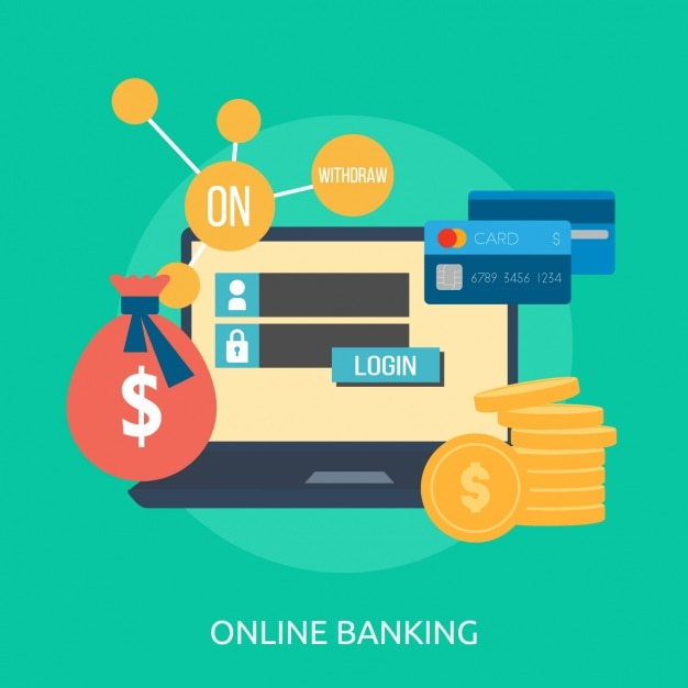 Online banking background design vector free download for Create a blueprint online free