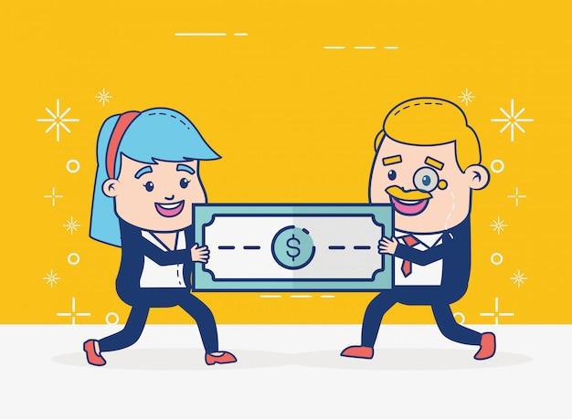 Online banking people Free Vector