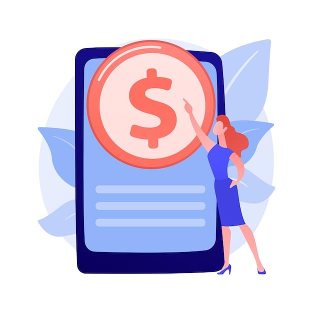 Online banking technology. e wallet, e payment, internet app. money internet withdraw smartphone application. monetization, e-commerce design element concept illustration Free Vector