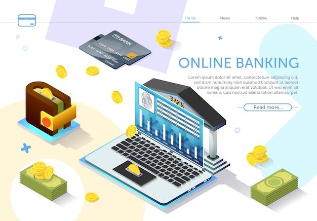 Online banking. types monetary units. vector. Premium Vector