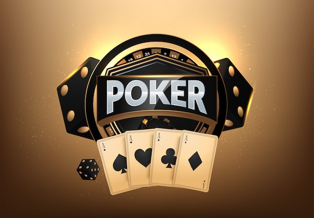 Online big slots casino banner, tap to play button. Premium Vector