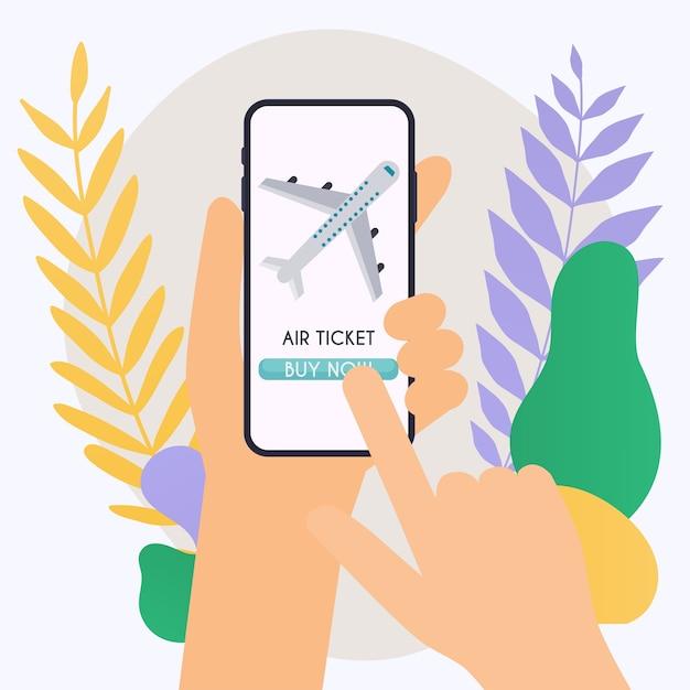 Online booking ticked illustration Premium Vector