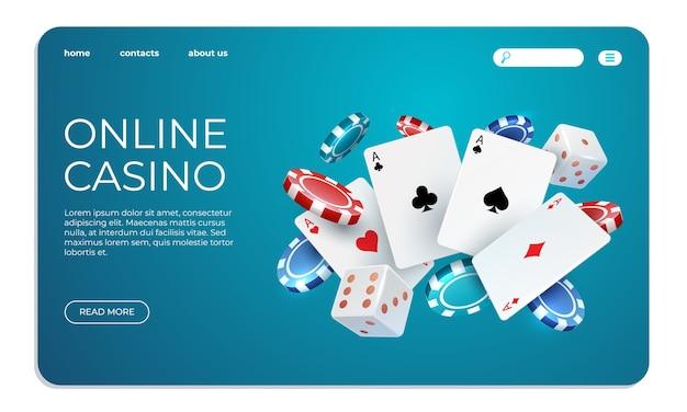 Online casino illustration Premium Vector