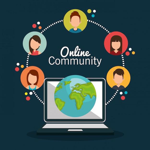 Online community Free Vector