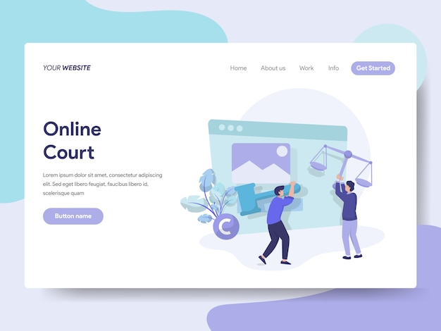 Online court for web page Premium Vector