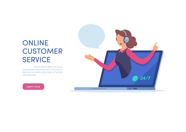 Online customer service Premium Vector