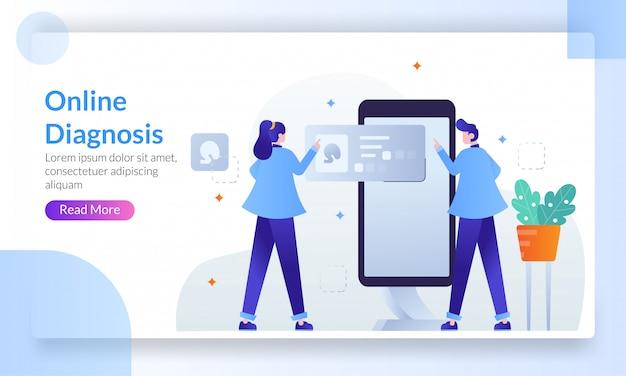 Online diagnosis concept Premium Vector