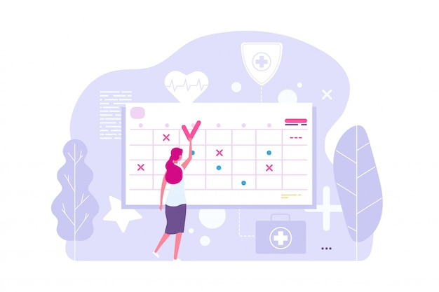Online doctor appointment. Premium Vector