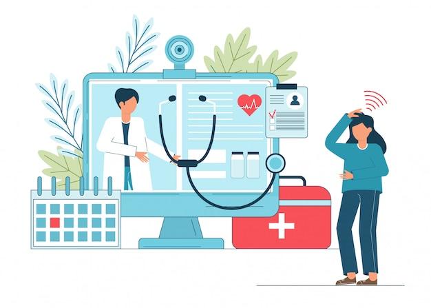 Premium Vector | Online doctor, telemedicine, medical service online for  patients.