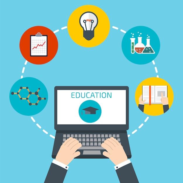 Online education concept Premium Vector
