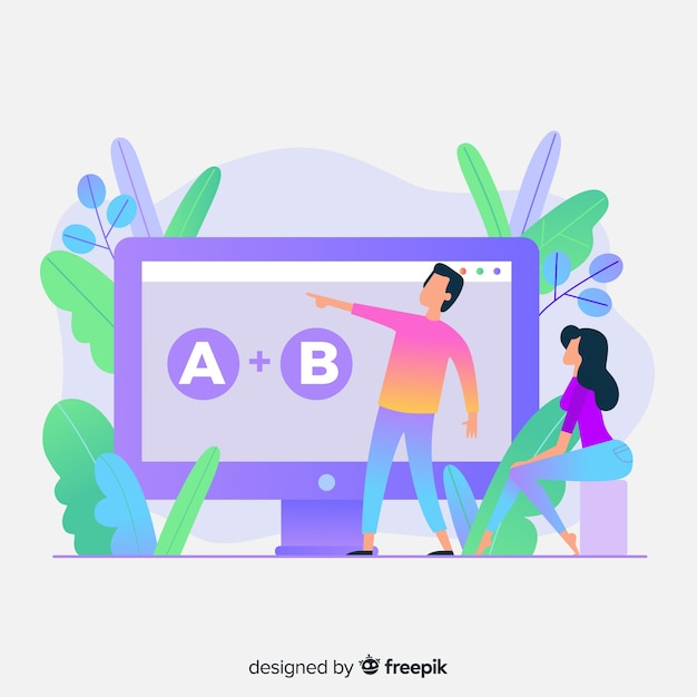 Online education concept Free Vector