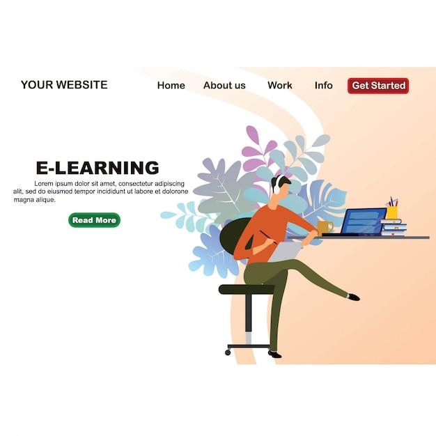Online education design from flat isometric design Premium Vector
