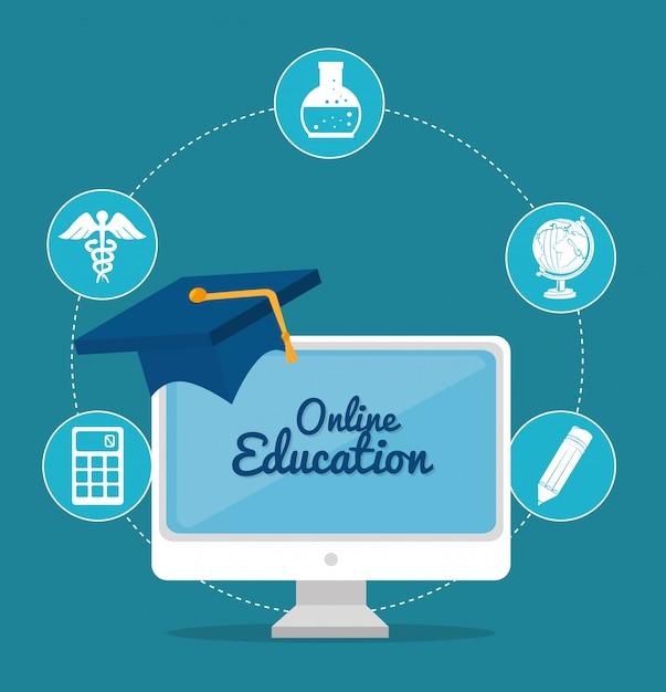 Online education design Premium Vector
