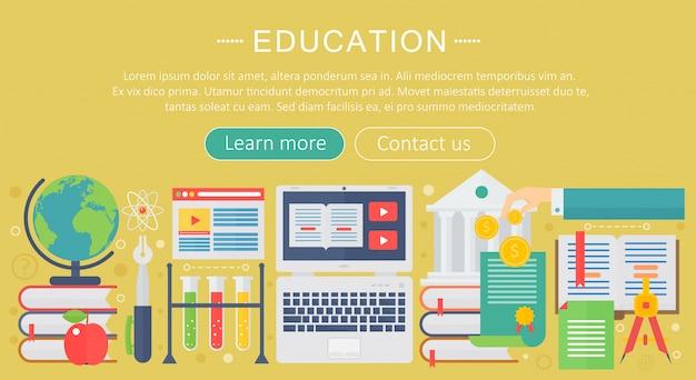 Online education infographics template design Premium Vector