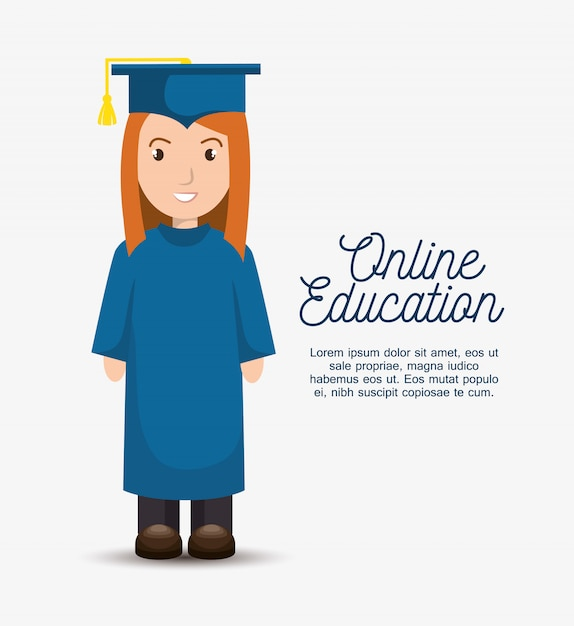 Online education template Free Vector