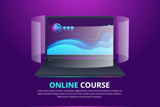 Online Education Web Banner Idea Of Distance Learning And Remote Courses Digital Course Illustration Premium Vector