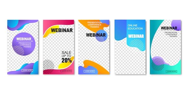 Online education. webinar, internet training. Premium Vector