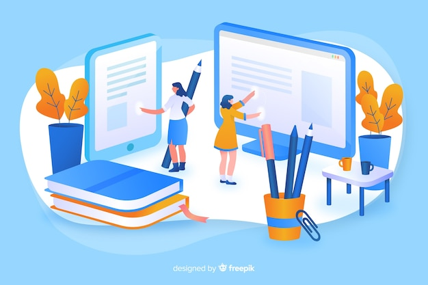 Online education Free Vector