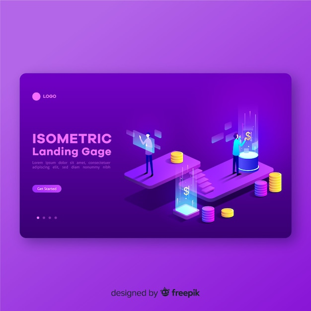 Online finances landing page template Free Vector