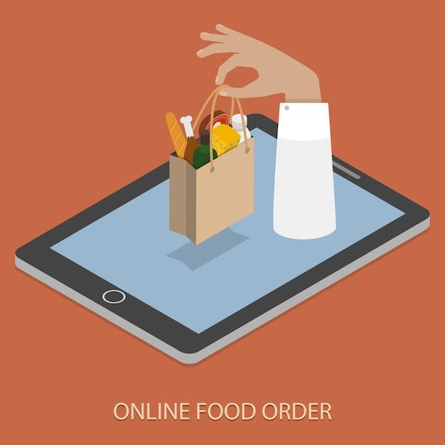 Online foood ordering Premium Vector