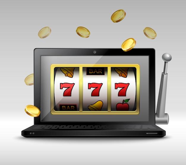 Online gambling concept Free Vector