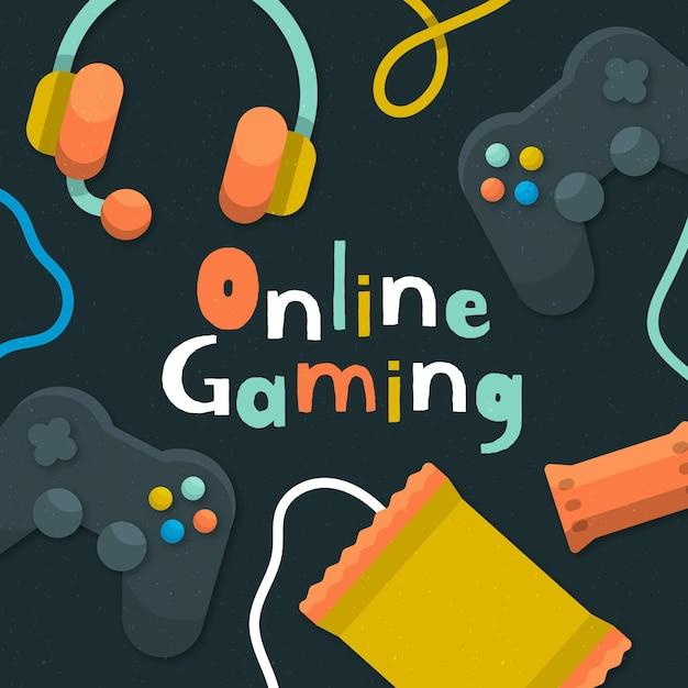 Concetto di giochi online Vettore gratuito