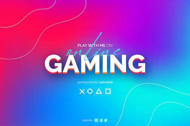 Online gaming abstract blurred background template Free Vector