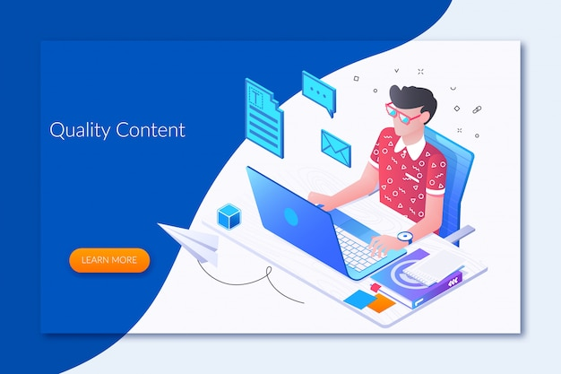 Online journalist Premium Vector