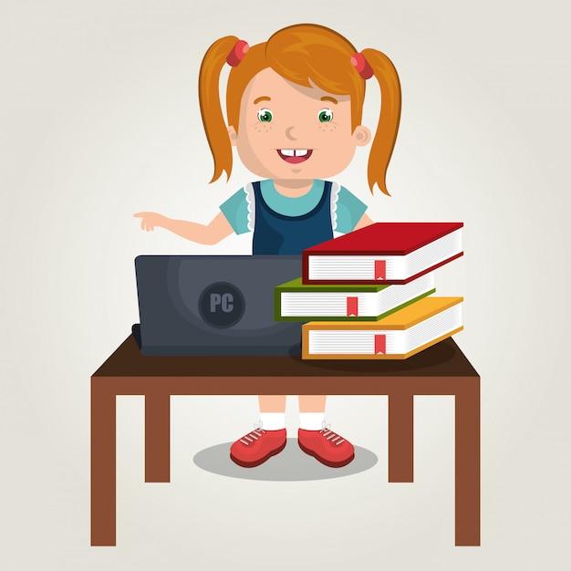 Online kids Free Vector