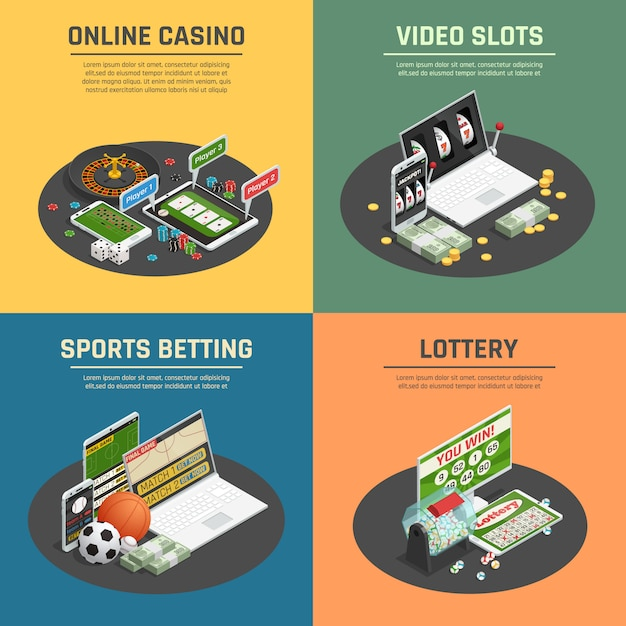 Online lottery Free Vector