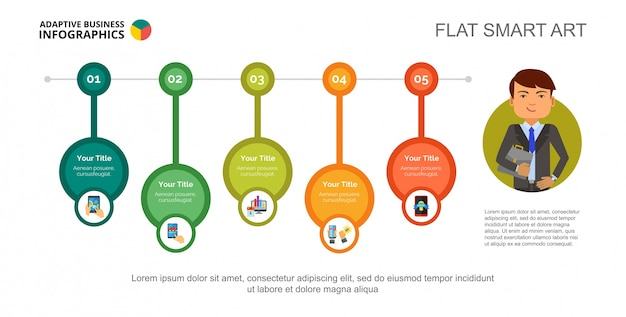 online marketing concept slide template vector free download