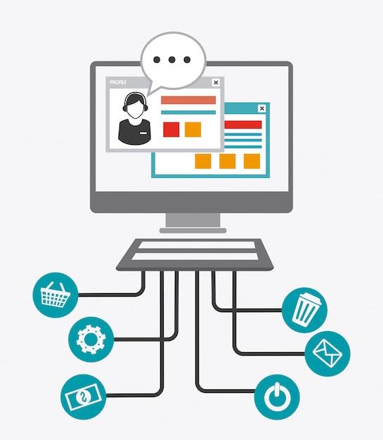 Online media design. Premium Vector