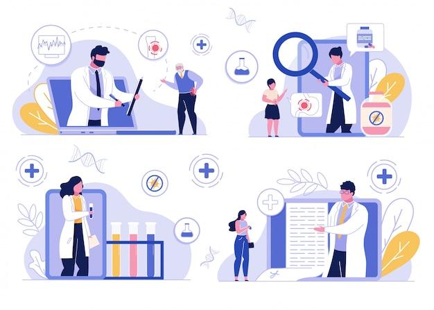 Online medical consultation service telemedicine Premium Vector
