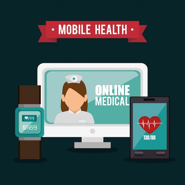 Online medical design Free Vector