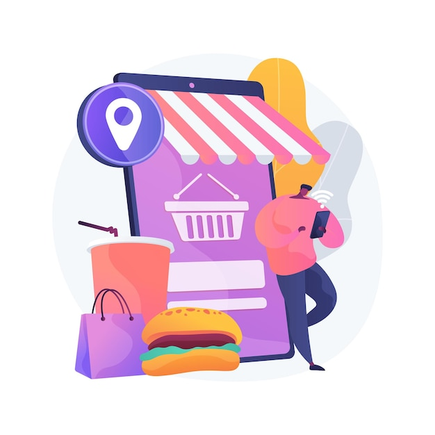 Иллюстрация абстрактной концепции онлайн-заказа Бесплатные векторы