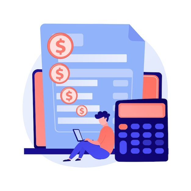 Online payment account. credit card details, personal information, financial transaction. cartoon character bank worker. internet banking. Free Vector