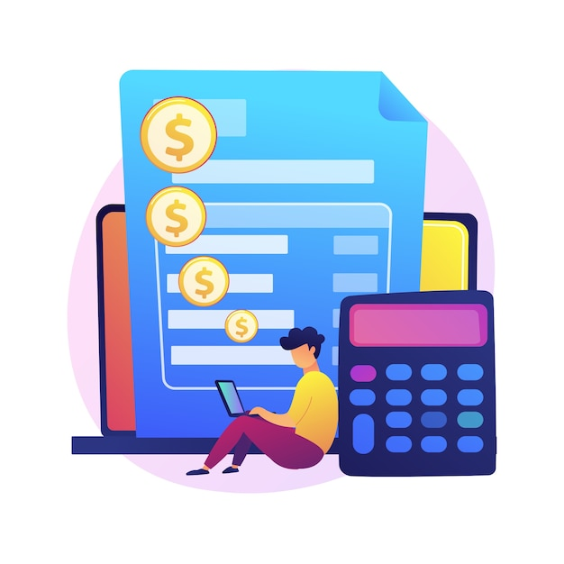 Online payment account. credit card details, personal information, financial transaction. cartoon character bank worker. internet banking Free Vector
