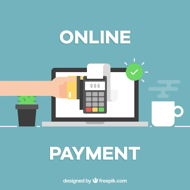 Free Vector | Online payment background design