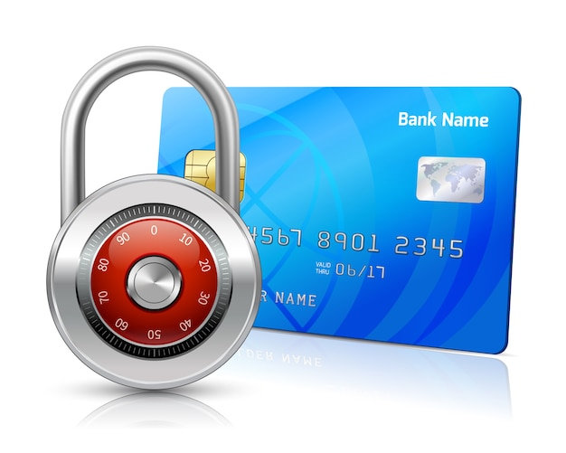 Online payments security concept Free Vector