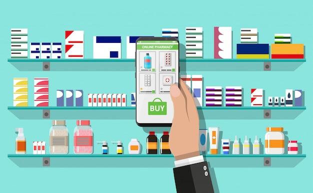 Интернет-аптека или аптека Premium векторы