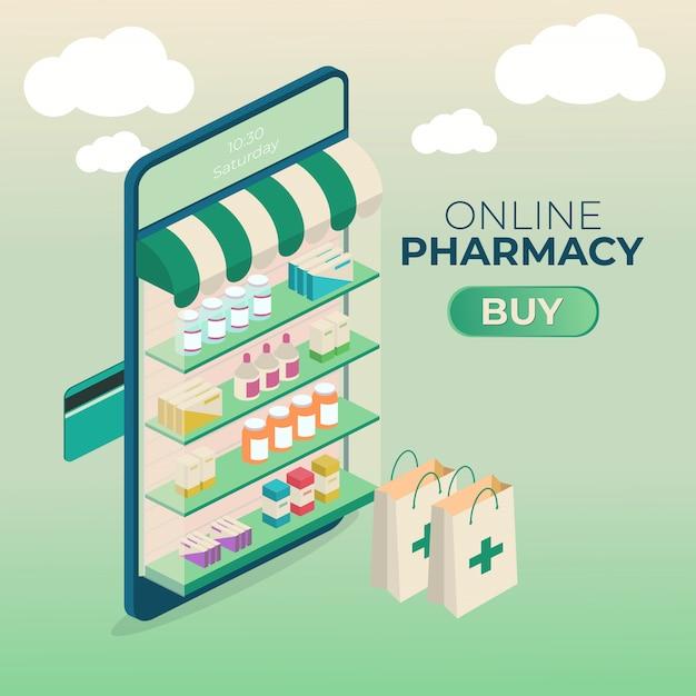 Online pharmacy Premium Vector