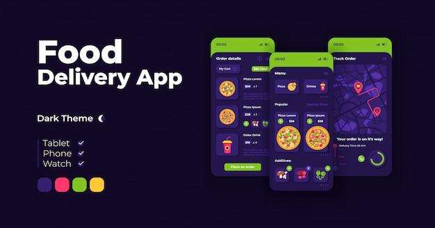 Online promotion cartoon smartphone interface  templates set Premium Vector