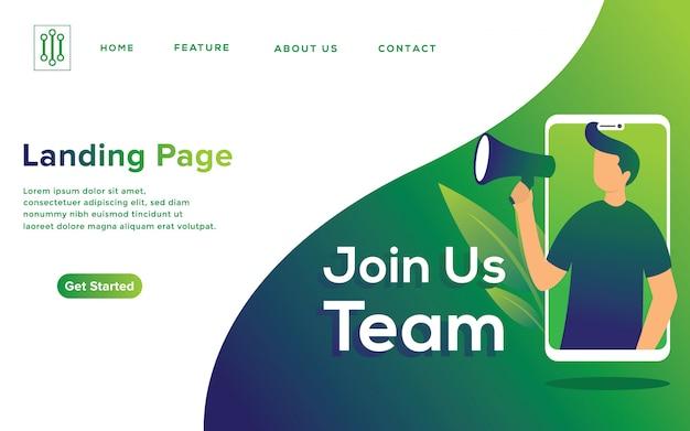 Online recruitment illustration concept Premium Vector