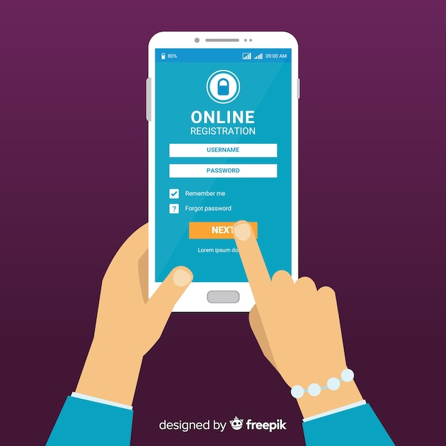 Online registration concept Vector   Free Download