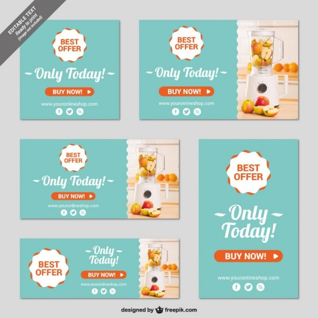 Online Shop Banner Templates Vector Free Download - Free ad templates online