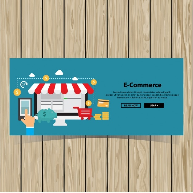 Online Shop Brochure Template Vector Free Download - Online brochure template
