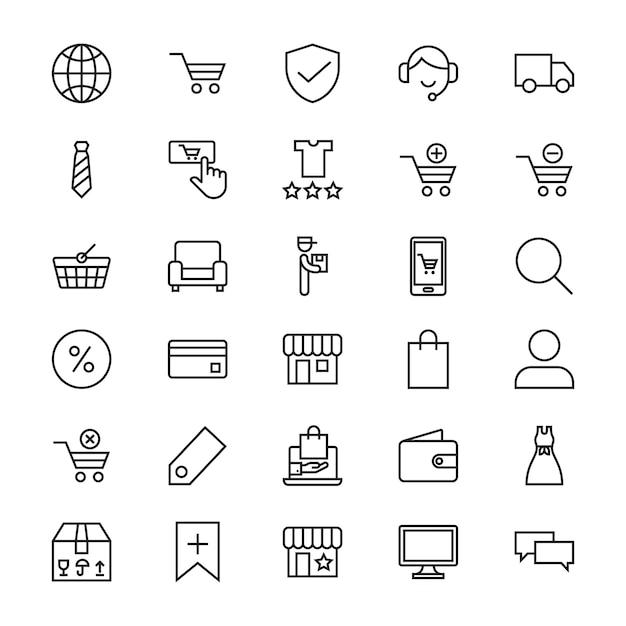 Online shop icon Premium Vector