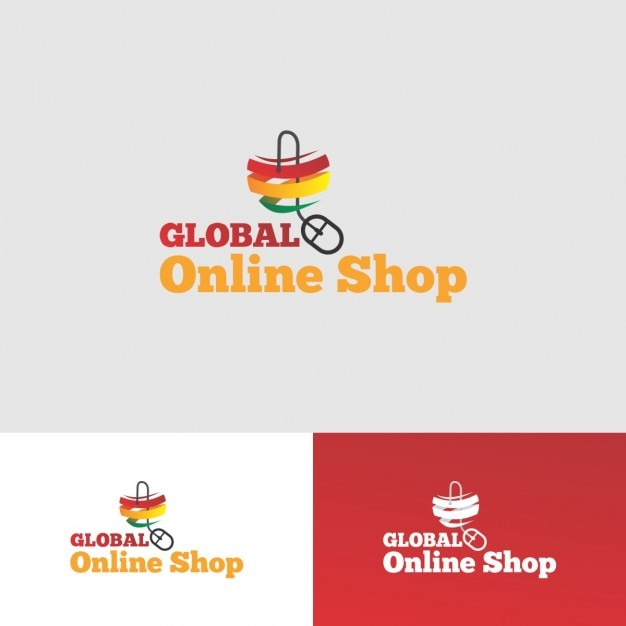 Online shop logo design vector free download for Outlet design online